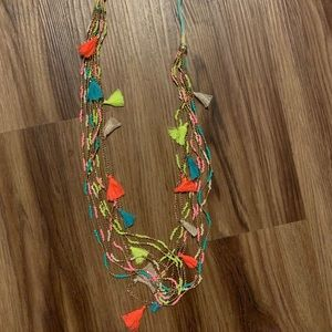 Jewelry - Ladies multicolored fringed necklace! NEW